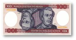 BRASIL - 100 CRUZEIROS - ND ( 1981 ) - P 198.a - UNC. - Serie 2776 - Sign. 20 - Prefix A - Duque De Caxias - Brasile