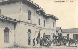 Montélimar - La Gare, Belle Animation: Diligences - Edition Nouvelles Galeries - Carte Non Circulée - Montelimar