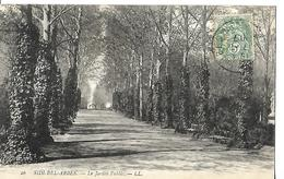 Algérie Sidi Bel Abbès  Le Jardin Public  CPA 1907 - Sidi-bel-Abbes