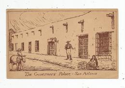 Cp , ETATS UNIS , TEXAS , SAN ANTONIO , The Governor's Palace , Illustrateur , âne , Vierge - San Antonio