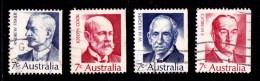 Australia 1972 Prime Ministers 7c Set Of 4 Used - - - 1966-79 Elizabeth II