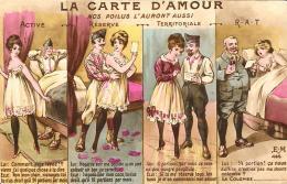 [DC3869] CPA - LA CARTE D'AMOUR ACTIVE - RESEERVE - TERRITORIALE - RAT - Non Viaggiata - Old Postcard - Cartoline