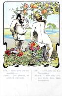 [DC3874] CPA - HUMOR - ADAMO ED EVA - Non Viaggiata - Old Postcard - Humor