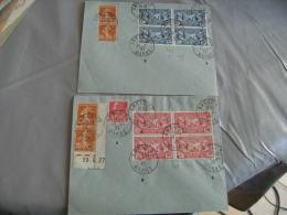 1927 Lot Lettre Bloc 4  Legion Americaine 1 F 50 Et 90 C  Anglure Marne - Marcophilie (Lettres)