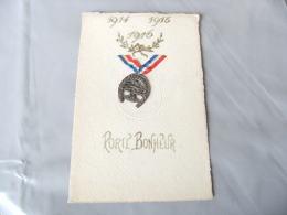 Carte Patriotique  Medaille Porte Bonheur - Guerre 1914-18