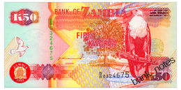 ZAMBIA 50 KWACHA 1992 Pick 37a Unc - Zambia