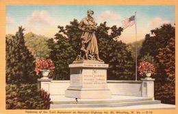 CPA MADONNA OF TRAIL MONUMENT ON NATIONAL HIGWAY N° 40 WHEELING W . YA - Postcards