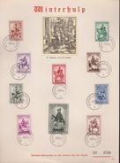 HERDENKINGSBLAD  WINTERHULP  SERIE 583/92 - Cartes Souvenir