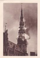 Deutsches Landesmuseum, Riga - Bildkarte Nr 1 - Der Brennende Petrikirchturm - Juni 1941 - Lettland