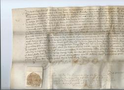 1652-Manuscrit Vélin Avec Cachet - Manuscrits