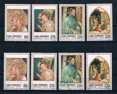 San Marino 1979 Weihnachten Mi.Nr. 1201/04 Kpl. Satz ** + Gest. - Ungebraucht