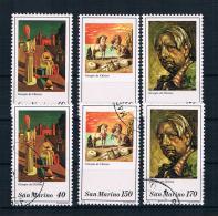 San Marino 1979 Gemälde Mi.Nr. 1198/200 Kpl. Satz ** + Gest. - Ungebraucht