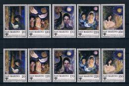San Marino 1979 Gemälde Mi.Nr. 1182/86 Kpl. Satz ** + Gest. - Ungebraucht