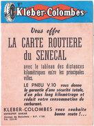 Kléber-Colombes, Carte Routière Du Sénégal - Publicités