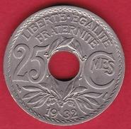 France 25 Centimes Lindauer 1932 - FDC - F. 25 Centesimi