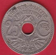 France 25 Centimes Lindauer 1937 - F. 25 Centesimi