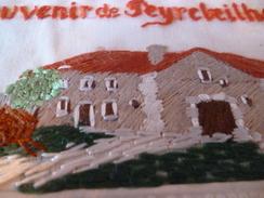 CPA 07 Ardèche Brodée Souvenir De Peyrebeilhe - Autres Communes