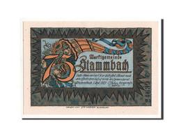 Allemagne, Stammbach, 75 Pfennig, Personnage 2, 1921-09-01, NEUF, Mehl:1252.3 - Deutschland
