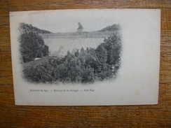 Carte Assez Rare , Belgique , Environs De Spa , Barrage De La Gileppe - Gileppe (Barrage)