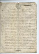 1784-Généralité De Toulouse-Castelnaudary-Vélin-12 Pages Concernant Les Finances Du Grand Prieuré - Manuscrits