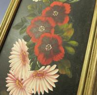 ~ TABLEAU BOUQUET DE FLEURS - Peinture Fleuriste Nature Jardin Fleur - Gouaches