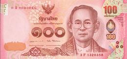 Thailand, 100 Baht, Pick 125, Sign. 87, 2015, UNC ! - Thailand