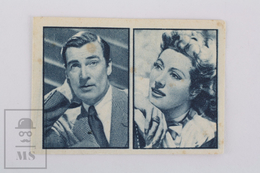 Old Small Trading Card/ Chromo Cinema/ Movie Topic - Actors: Walter Pidgeon & Greer Garson - 3.8 X 5.5 Cm - Cromos