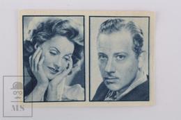 Old Small Trading Card/ Chromo Cinema/ Movie Topic - Actors: Greta Garbo & Melvyn Douglas - 3.8 X 5.5 Cm - Cromos