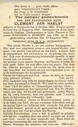 E.H. Clement VAN HAELST - °Kieldrecht 1882 - Burcht 1940 - Obituary Notices