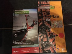 Transit Map Clermont-Ferrand + City Map - Subway Bus Tram - World