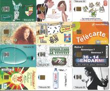 Télécartes Variées Par Lot  SOLDES 10 Centimes La Carte - Télécartes