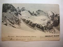 Carte Postale Suisse Vasorey ,Massif Du Grand-Combin -  Editeur Chocolat Klaus   (CPA Dos Non Divisé,circulée ) - VS Valais