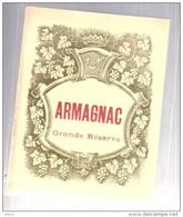 étiquette  -1940/1970* - ARMAGNAC  Grande Réserve - étiquette Générique - Autres
