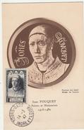 Tours-gare 1947 - Jean Fouquet Carte Maxi - Maximumkaarten