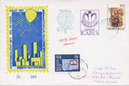 Ballonpost: Kerstdagvlucht Aalst (1987) - Met Adres / Open Klep - Briefe U. Dokumente