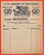 """Rare Petite Facture Illustrée Du 93  """"A LA LAITIERE De MONTFERMEIL"""" Louis DELOURME Domaine De La Tuilerie * Lait Vache - Food"""
