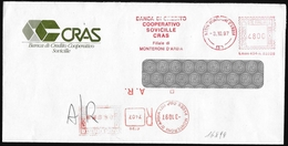 "Italia/Italie/Italy: Ema, Meter, Raccomandata, Recommandé, Registered, ""Banca Di Credito Cooperativo"" - Affrancature Meccaniche Rosse (EMA)"