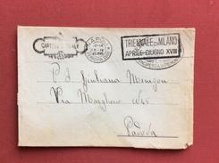 CARTEGGIO REALE NAPOLI PRINCIPESSA DI PIEMONTE +  TARGHETTA TRIENNALE DI MILANO BUSTA PER PADOVA IL 16/4/1940 - Storia Postale
