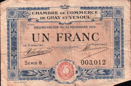 Chambre De Commerce De Gray Et Vesoul - Un Franc - Chambre De Commerce