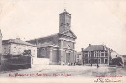 MONCEAU-SUR-SAMBRE : Place Et église - Belgique