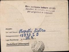 Guerre 39/45 Prisonnier De Guerre Italien Stalag VIIIB Lamsdorf Teschen FM Franchise Militaire - Alemania