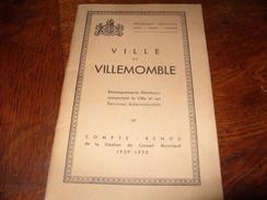 Régionalisme Livre Livret Bulletin Municipal  Ville De Villemomble 1929-1935 - Boeken, Tijdschriften, Stripverhalen