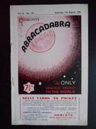 """Revue """"Goodliffe's Abracadabra Vol. 6 N°132 7th August 1948"""" - Divertissement"""