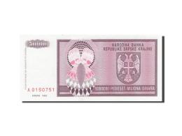 Croatie, 5 Million Dinara, 1993, KM:R11a, 1993, SPL - Croatie