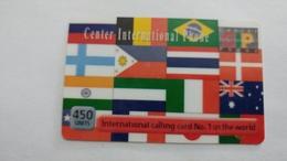 Israel-cip-(5)-international Calling Card-(450units)-6/2001-used Card - Israele