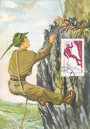 D28450 CARTE MAXIMUM CARD 1961 ROMANIA - MOUNTAIN CLIMBING - COMICAL CARD CP ORIGINAL - Climbing