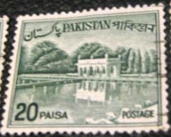 Pakistan 1962 Shalimar Gardens 20p - Used - Pakistan