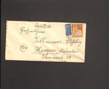 Bizone 4 Pfg.Bauten Wg M.Notopfer Auf Drucksache V.1949 Aus Neuenkirchen über Rheine (Westf) 2 - American/British Zone