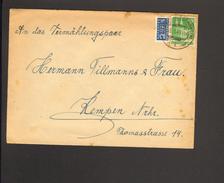 Bizone 10 Pfg.Bauten Wg M.Notopfer Geschnitten Auf Ortsbrief V.1949 Aus Kempen (Niederrhein) - Bizone