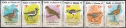 Wallis & Futuna 1987 Yvert 369 - 374 Neuf ** Cote (2015) 7.75 Euro Oiseaux - Wallis-Et-Futuna